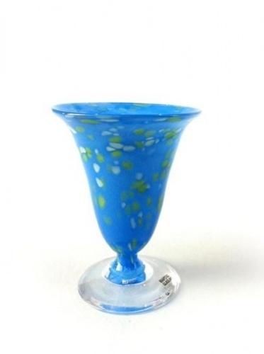Små blå, glas Knapstad