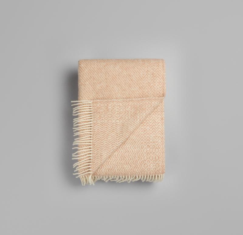 Røros Tweed, plaid Kattefot, beige