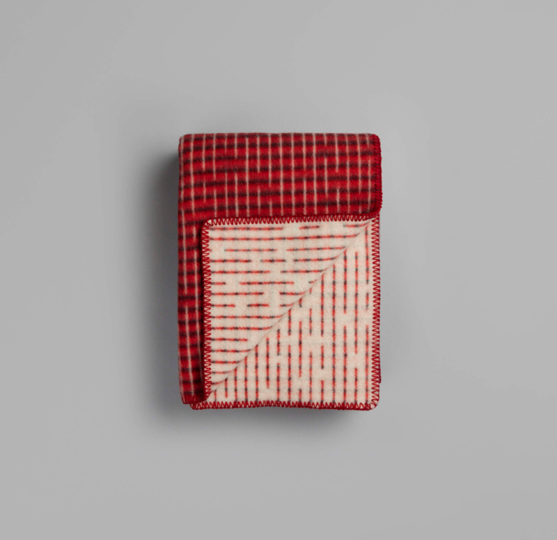 Røros Tweed, deken Agnès, rood