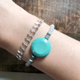 Armband Steen Blauw