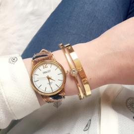 Horloge Zebra - Bruin