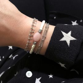 Armband Steen Roze