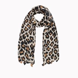 Sjaal Luipaard Beige