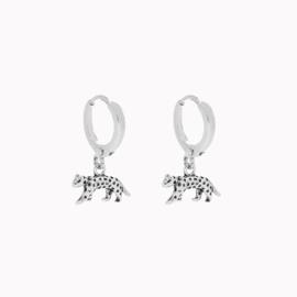 Oorbellen Luipaard - Zilver