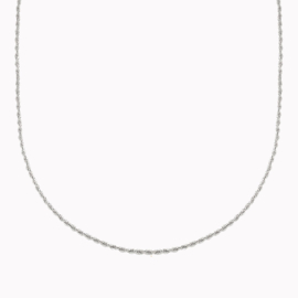 Ketting Twisted Zilver