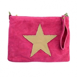 Suede Clutch Ster