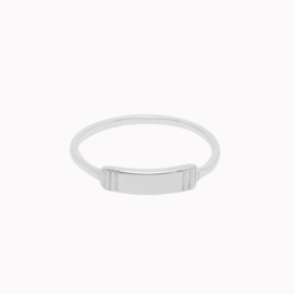 Modern Plate Ring Zilver
