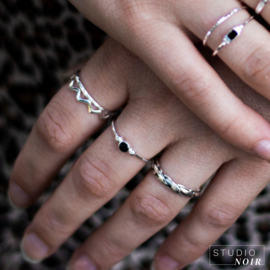 Ring Facet Zilver