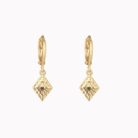 Oorbellen Diamant Goud