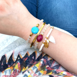 Armband Steen - Rood