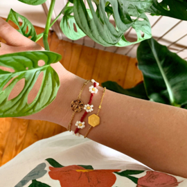Armband Bloem Rood