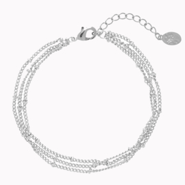 Armband Triple Zilver