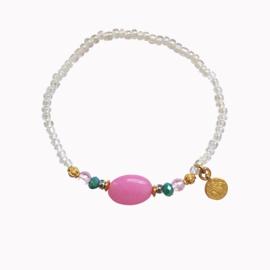 Stone Armband - Roze