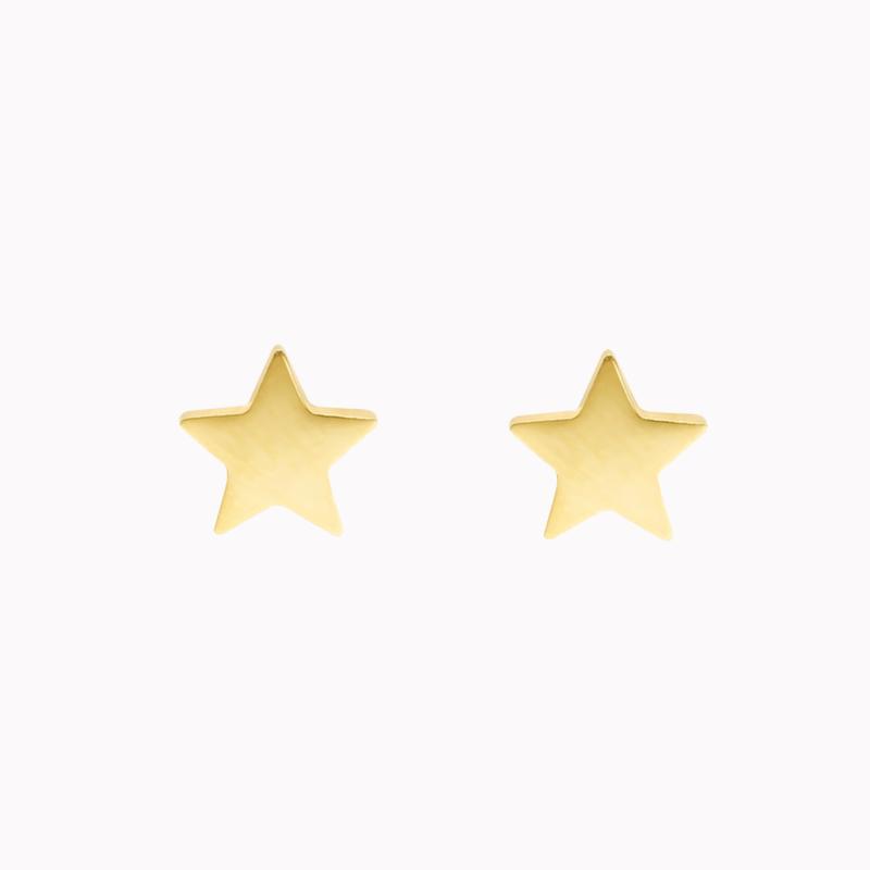 Oorbellen Ster - Goud