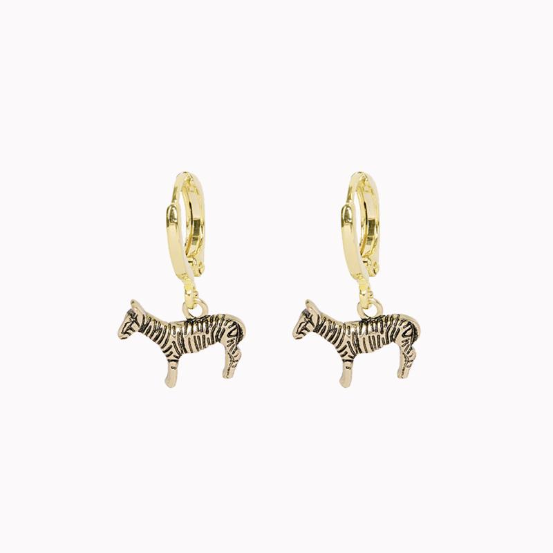 Oorbellen Zebra - Goud