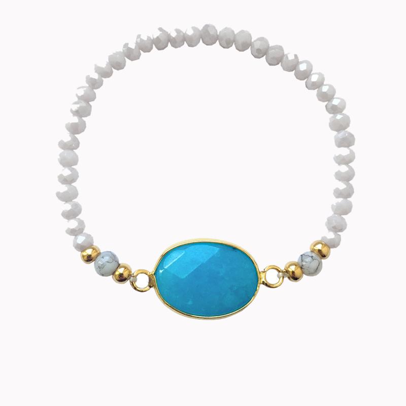 Armband Steen - Aqua