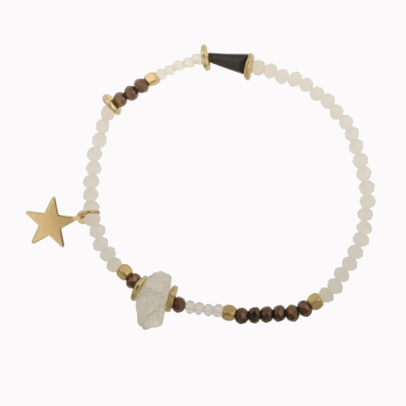 Armband Steen Wit