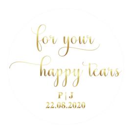 Foil Sticker White - Happy Tears