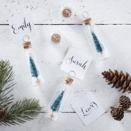 Glazen Kerstboom buisjes voor gasten