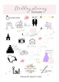 Wedding Planning Stickers | A5 vel