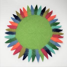Tafelkleedje zonnebloem groen