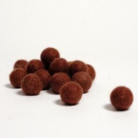 Viltballen 2,2 cm Chocoladebruin 036 (per 10 stuks)