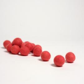 Viltballen 2,2 cm Donkerzalmoranje  011 (per 10 stuks)