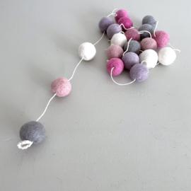 Mix voor Balletjes slinger roze