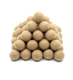 Viltballen 2 cm Grijs Beige 035 (per 10 stuks)