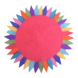 Vilten Tafelkleedje zonnebloem roze