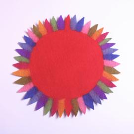 Tafelkleedje zonnebloem rood