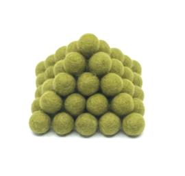 Viltballen 2 cm groen 051 (per 10 stuks)