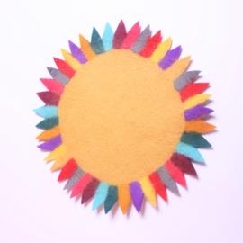 Tafelkleedje zonnebloem geel