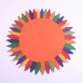 Tafelkleedje zonnebloem oranje