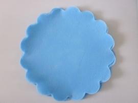 Polytule rond turquoise (12 stuks)