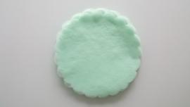 Polytule rond mintgroen (12 stuks)