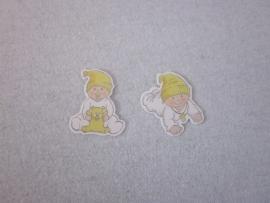 Naamkaartje geel BABY TUTTIE