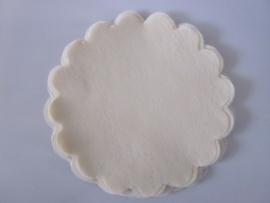Polytule rond creme (12 stuks)