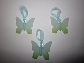Vlinder hangertje blauw-groen (10 stuks)