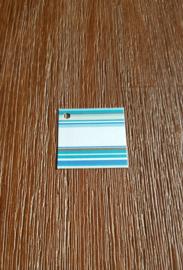 Naamkaartje streep blauw
