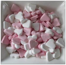 Vruchtenhartjes roze/wit