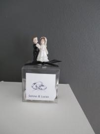 Doorzichtig doosje met bruidspaartje