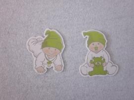 Naamkaartje groen BABY TUTTIE