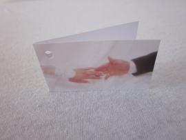 Naamkaartje met handen