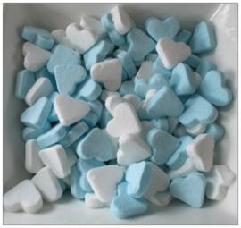 Vruchtenhartjes blauw/wit