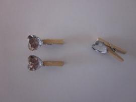 Mini wasknijpers met hartje (10 stuks)