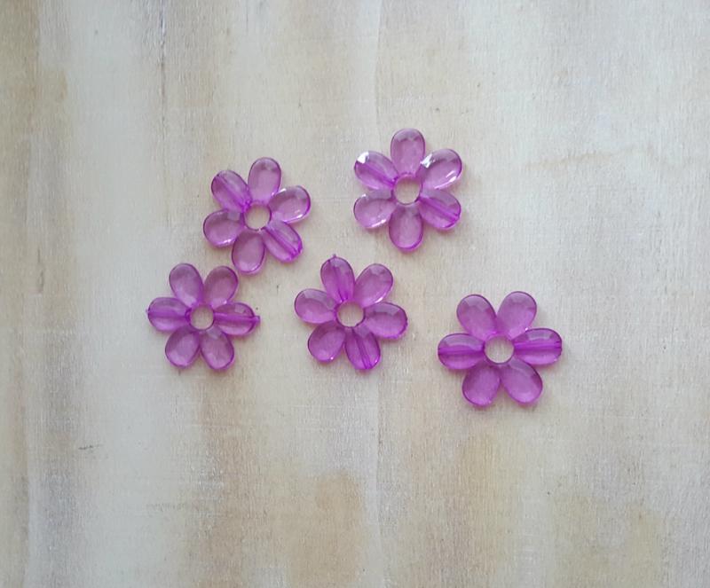 Bloemetjes paars (17 stuks)