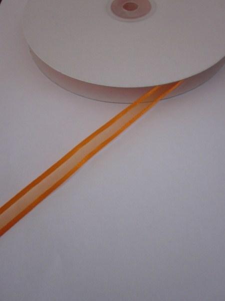 Oranje organzalint met satijnen rand