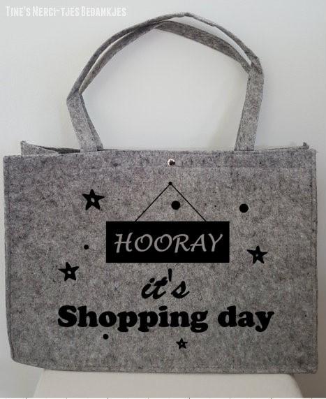 Vilten tas - shopping day
