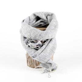 Sjaal met Verhaal - klein - 103 - lichtgrijs